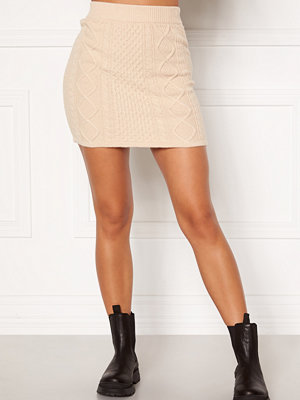 Bubbleroom Aisha knitted skirt Cream