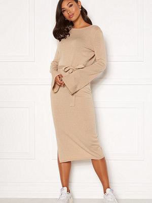 Bubbleroom Indra knitted dress Dark beige