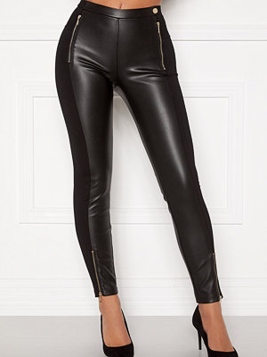 Chiara Forthi Stansie coated leggings Black