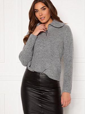 Object Collectors Item Rachel L/S Knit Pullover Light Grey Melange