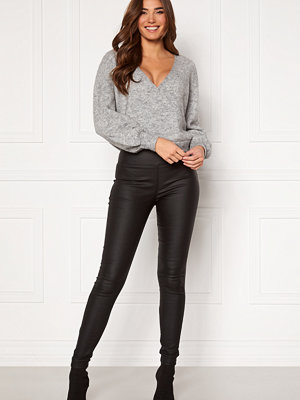 Pieces Roxy HW Zip Coated Leggings