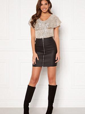 Kjolar - Pieces Roxy HW Zip Coated Skirt