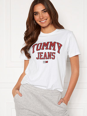 Tommy Jeans Collegiate Logo Tee YBR White