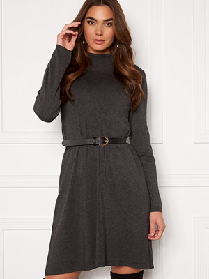 Vero Moda Glory Rollneck Dress Dark Grey Melange