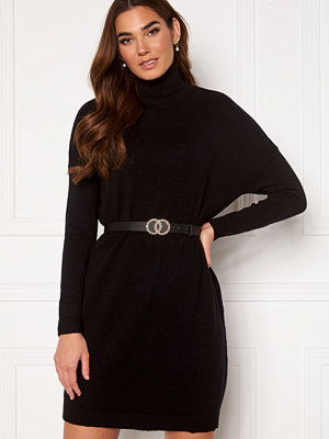 Vila Ril Rollneck L/S Knit Tunic Black