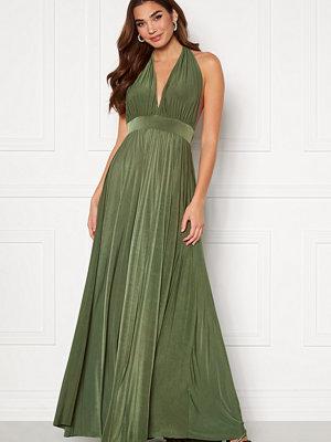 Goddiva Deep V Neck Maxi Dress