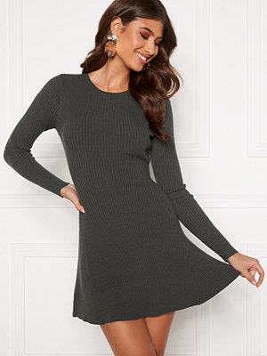Bubbleroom Sally knitted dress Dark grey