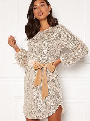 Bubbleroom Sanja sparkling dress Champagne / Silver