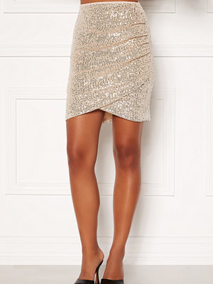 Bubbleroom Kira sparkling skirt Champagne / Silver