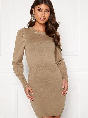 Bubbleroom Tua knitted dress Dark beige