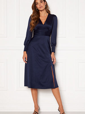 Chiara Forthi Rose satin dress Navy