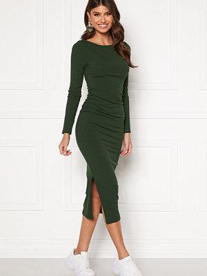 Bubbleroom Minea drapy dress Dark green