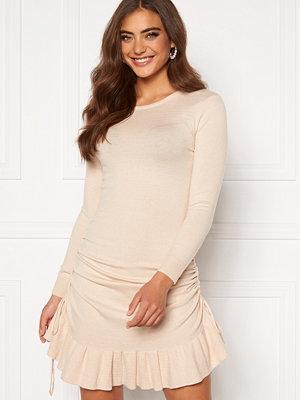 Bubbleroom Elna knitted dress Cream