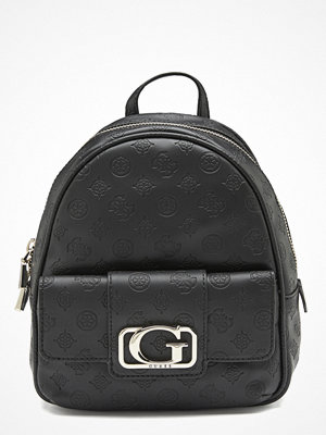 Guess svart ryggsäck med tryck Emilia Small Backpack Black
