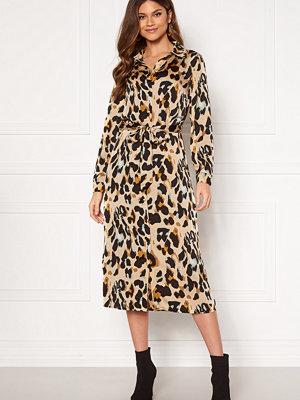 Vila Jolie L/S Shirt Dress Nomad AOP Leopard