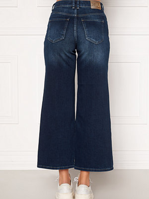 Only Madison HI Life Wide Crop Jeans Dark Denim Blue