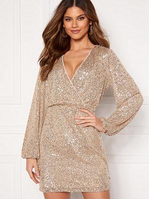 Vila Lyc L/S Short Dress Frosted Almond