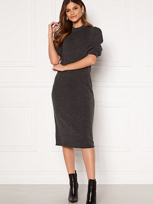 Vila Many 2/4 Sleeve Medi Dress Dark Grey Melange