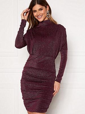 Ax Paris High Neck Rouch Sparkle Dress