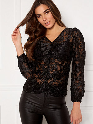 Vero Moda Krystie L/S Lace Top Black