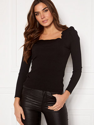 Vero Moda Harriet L/S Rib Top Black