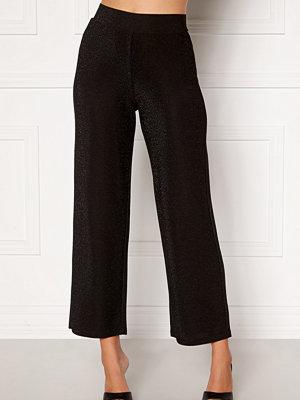 Happy Holly svarta byxor Estelle lurex pants Black