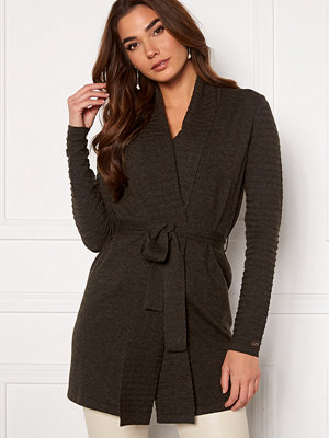 Chiara Forthi Abruzzo knitted tie band cardigan Anthracite
