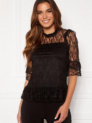 Happy Holly Isabella lace top Black