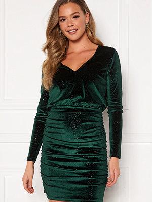 Bubbleroom Hillie sparkling velvet dress Green