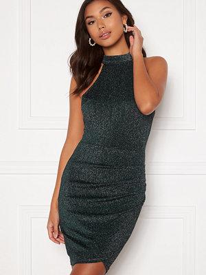 Ax Paris Sparkle Rouch Wrap Mini Dress