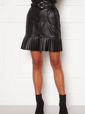 Vila Talina Coated Skirt Black