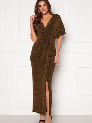 Bubbleroom Selena sparkling maxi dress Gold