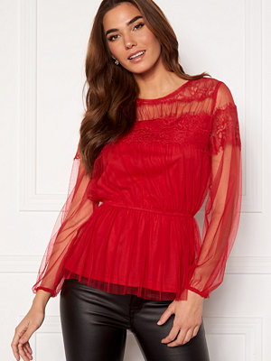 Happy Holly Smilla ls mesh blouse