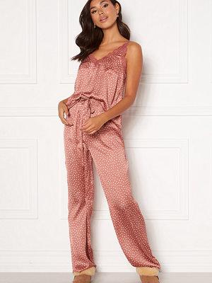 Bubbleroom Steph printed pyjama set Dusty pink / Dotted