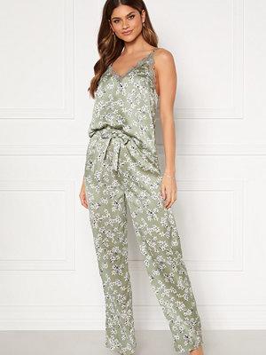 Bubbleroom Steph printed pyjama set Dusty green / Floral