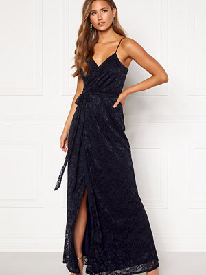Goddiva Lace Wrap Maxi Dress