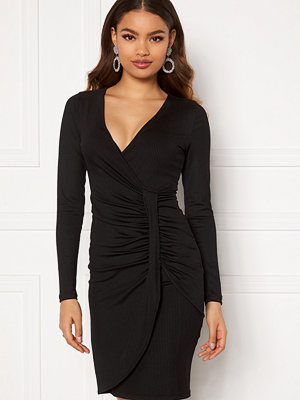 Chiara Forthi Elena wrap dress Black