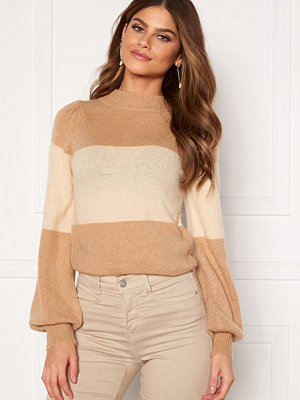Bubbleroom Linette block knitted sweater