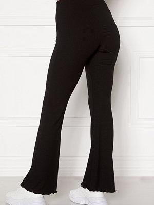 Bubbleroom svarta byxor Lykke rib trousers