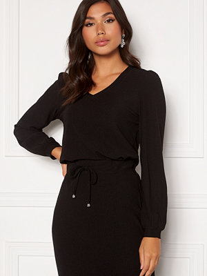 Happy Holly Emilia ls sleeve puff top  Black