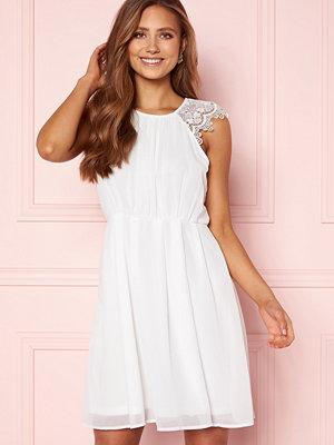 Ax Paris Lace Trim Skater Dress White