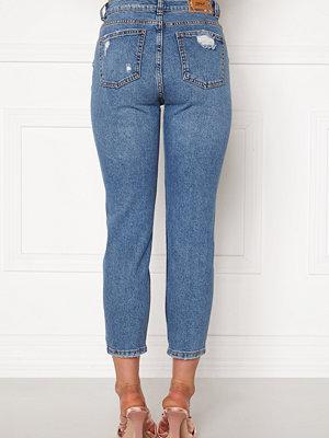 Only Emily HW  Crop Jeans Medium Blue Denim