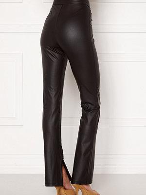 Leggings & tights - Bubbleroom Iza PU slit leggings