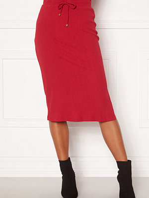 Happy Holly Emilia midi skirt Dark red