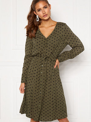 Happy Holly Blake ls dress Khaki green / Black