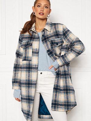 Jacqueline de Yong Long Check Shirt Jacket