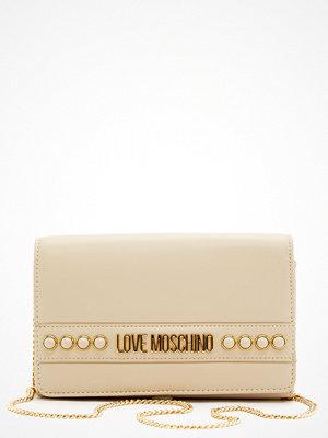 Love Moschino omönstrad axelväska Evening Bag 110 Ivory
