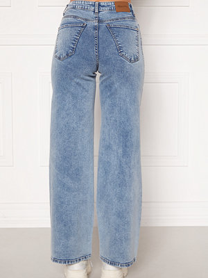 Happy Holly Peggy wide leg jeans Light denim