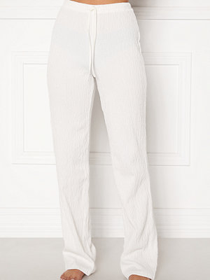 Bubbleroom Lynne soft pyjama pants  White