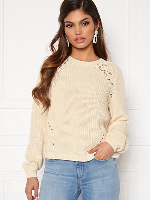Only Maga L/S Lace Pullover Eggnog